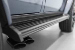 Powder coated running boards