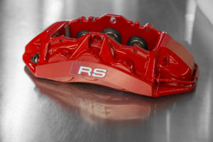 Factory red Audi calipers